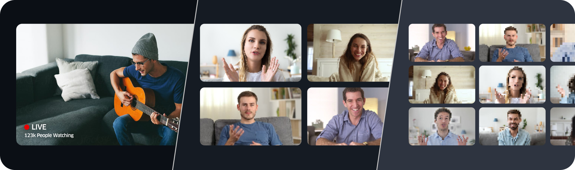 interactive video, live interactive video, zoom, 100ms, video conferencing solution, video solution
